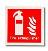 O símbolo do extintor de fogo isolado no fundo branco — Fotografia Stock