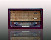 The Vintage radio isolated on white background — Stock Photo
