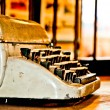 The Old typewriter — Stock Photo