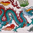 The Colorful of old painting dragon on wall in joss house — Stock Photo #10884188