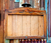 De gamla trä anslagstavlan — Stockfoto