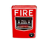 The Fire alarm isolated on white background — Stock Photo