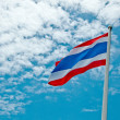 The Thai national flag on blue sky background — Stock Photo