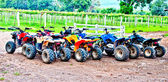 The All terrain vehicles ready to hit the trails — Stock Photo