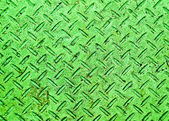 The Green grunge steel floor plate background texture — Stock Photo