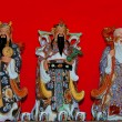 Stock Photo: Three chinese gods status
