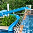 The Water slide of pool — Stock Photo