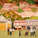 BANGKOK ,THAILAND - MAY 19 : Ancient painting on monastery wall — Stock Photo #11483085