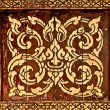 Stock Photo: Traditional Thai style art golden painting pattern on wood i