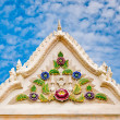The Beautiful front of pavilion in temple on blue sky backgroun — Stock Photo
