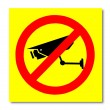 The Sign of no video surveillance isolated on white background — Stock Photo #11503046