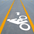 Bicycle road sign painted on pavement — Stock Photo #11503241
