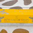 Stock Photo: Sign of beware step