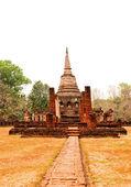 The Ancient stupa of Si Satchanalai historical park at sukhothai — Stock Photo