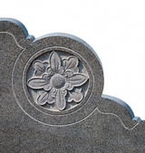 The Carving flower on rock — Stock Photo