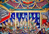 Chiang mai, Thaïlande - 25 janvier : la peinture ancienne sur monastére — Photo