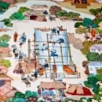 BANGKOK ,THAILAND - MAY 6 : Ancient painting on monastery wall — Stock Photo #11514365