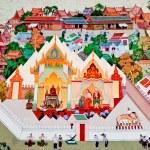 BANGKOK ,THAILAND - MAY 6 : Ancient painting on monastery wall — Stock Photo #11514375