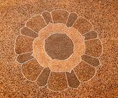 The Art of pebble floor ground — Stock Photo