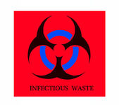 The Sign of biohazard isolated on white background — Stockfoto