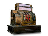The Vintage slot machine isolated on white background — ストック写真