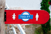The Sign of restroom for men and women — Stock Photo