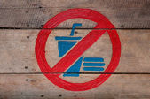 The Sign of no food and no drink on wood background — Stock Photo