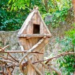The Wooden of birdhouse on tree — Stock Photo