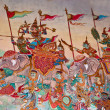 The Wall painting of thai art in the Thai temple — Photo