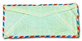 白い背景で隔離の裏面古い封筒 — ストック写真