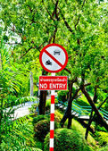 The Sign of the car and motorcycle not entrance — Foto de Stock