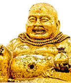 The Laughing Buddha status isolted on white background — Stock Photo