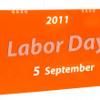 Royalty-Free Stock Photo: The Calendar of labor day isolated on white background