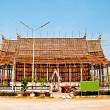 The Under construction of ancient temple - Stock Photo