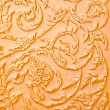 Brown stucco design of native thai style on Wall — Stock Photo #11585864