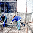 Stock Photo: Home renovation work under construction