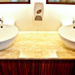 The Modern of wash basin on restroom — Stock Photo