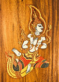The Painting of deva on wood — Stock Photo