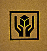 The Brown corrugated cardboard — Stock Photo