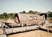 The Vintage boat of native thai style — Stockfoto