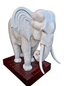 The Sculpture elephant isolated on white background — Stock Photo