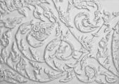 The White stucco design of native thai style on the Wall — Stock Photo