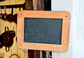 The Old wooden blackboard — 图库照片