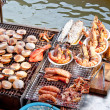 Stock Photo: Total seafood on charcoal grilled