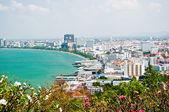 The Bird eye view of pattaya city, Thailand — Stock Photo