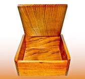 Drewniane pudło na białym tle — Zdjęcie stockowe