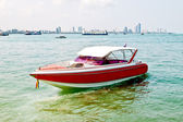 The Red speedboat — Stock Photo