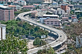 The Expressway curve at pattaya city,Thailand — Stok fotoğraf