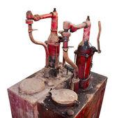 La bomba de combustible vintage aislada sobre fondo blanco — Foto de Stock