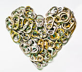 The Can tabs look like the heart — Stockfoto